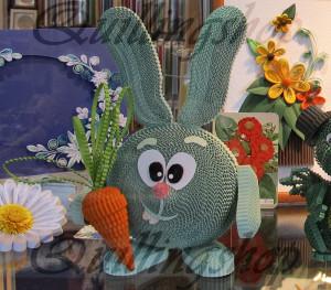 Kikoriki Croche / Rabbit (corrugated quilling)