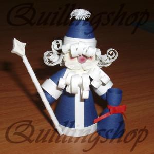 Дед Мороз (объемный квиллинг)