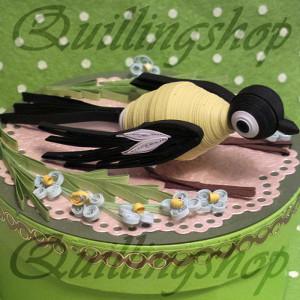 Птичка (объемный квиллинг)