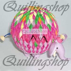 "Box ""Elephant"", quilling"
