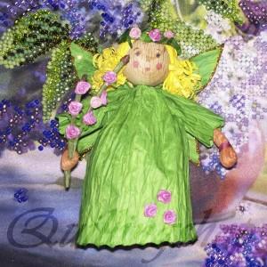 Весенняя фея из бумажных веревочек (твистарт)
