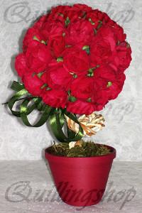 Топиарий- красные розы