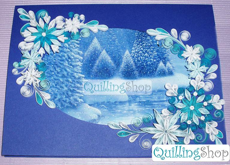 Квиллинг зима своими руками