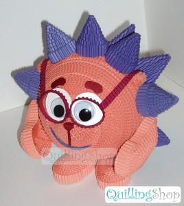 Kikoriki Hedgehog (corrugated quilling)