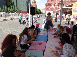 Мастер-класс по квиллингу в Москве на Красной Площади